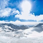 Panorama vom Stubai Gletscher